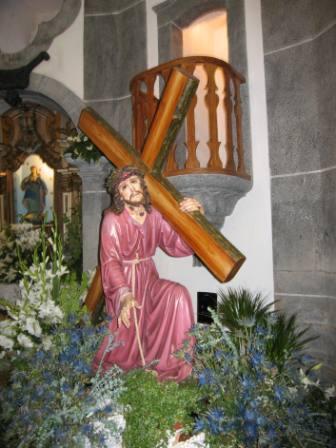Foto de Sr. dos Passos na Capela das Almas. Foto de Carlos Lemos