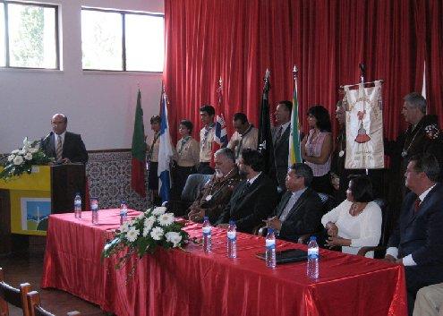 Cerimónia de homengem a D. Ximenes Belo, prémio Nobel da paz 1996.<br />Aguada de Cima 03/09/2006