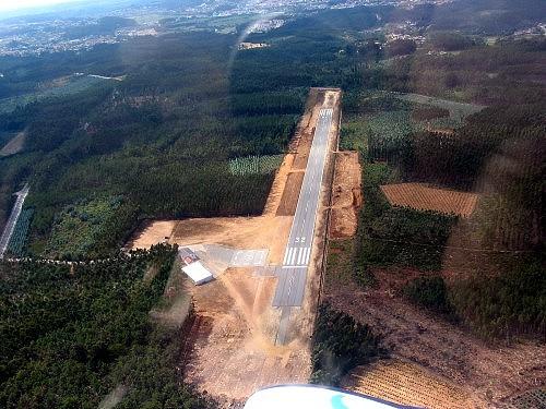 Vista aérea do aerodromo de Águeda (Aguada de Cima).